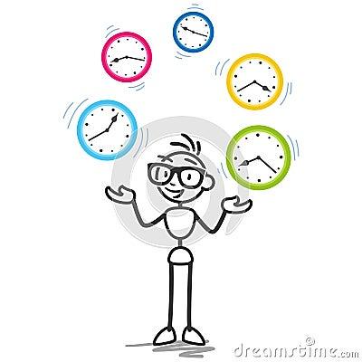 Stickman Time Management Productivity Schedule Stock ...