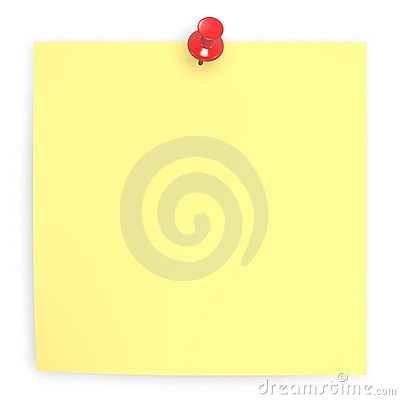 Free Sticky Blank Note Royalty Free Stock Images - 2223909