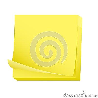 Sticky blank note paper pad