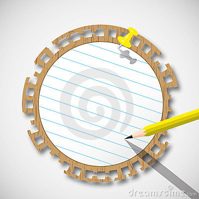 Sticky circle note paper