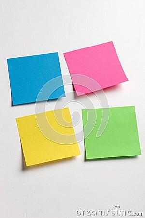 Sticky memo notes