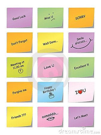 Free Sticky Message Note Stock Images - 13055834