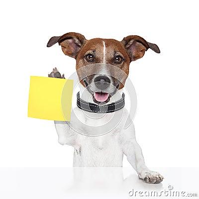 Sticky note banner dog