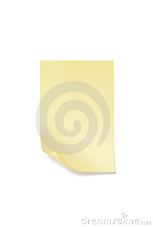 Sticky note with clipping path