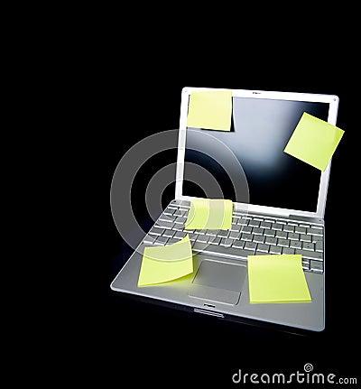 Sticky Note on Laptop