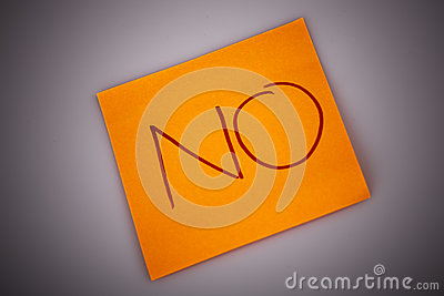 Sticky Note Message isolated on white - NO