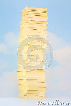 Sticky Note Sky Tower