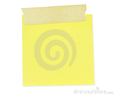 Sticky Note with Tape (Path Included)