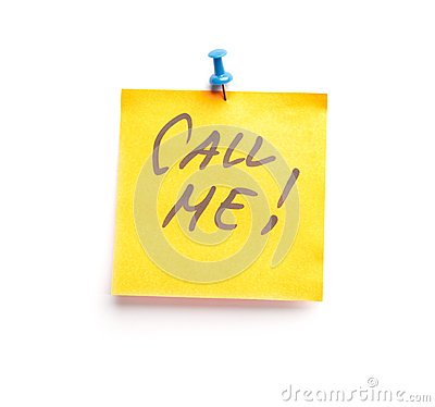 Free Sticky Note With Text Call Me On It Stock Photography - 26187952