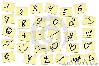 Sticky notes with Alphabet