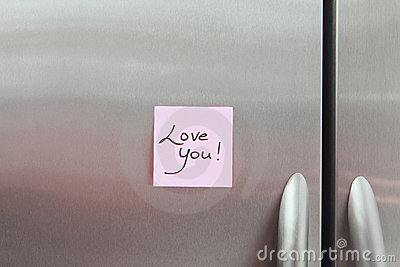 Sticky Notes on a Refrigerator