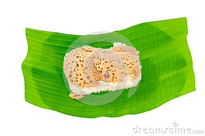 Sticky rice in coconut cream