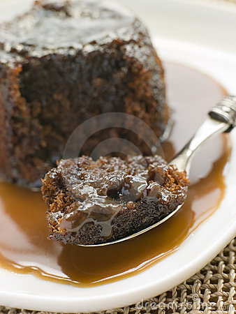 Free Sticky Toffee Pudding With Toffee Sauce Stock Photo - 5932010