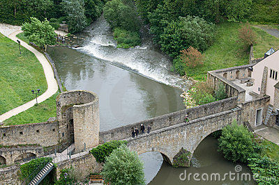 Stierchen Bridge, Luxembourg Editorial Stock Photo