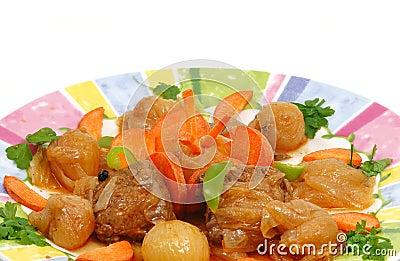 Stifado dish Greek recipe.