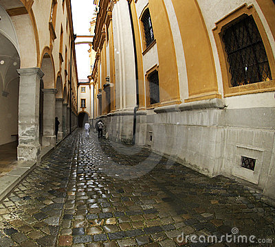 Stift Melk - stone passage Editorial Stock Image