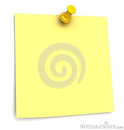 Free Stiker Yellow Royalty Free Stock Photography - 12689217