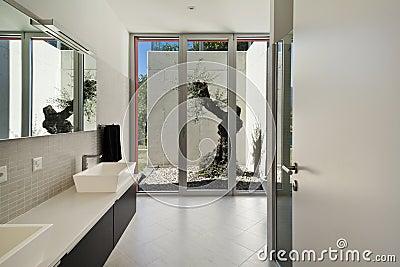 Stile moderno, stanza da bagno