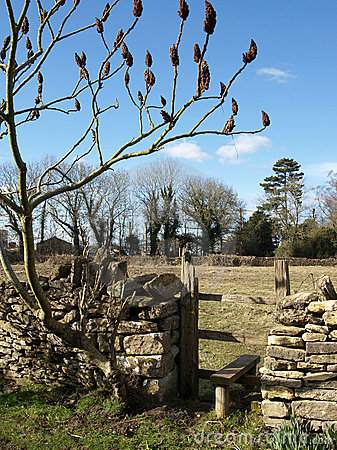Stile over a Stone Wall