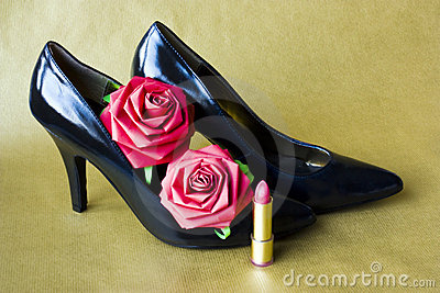 Stiletto heeled shoes