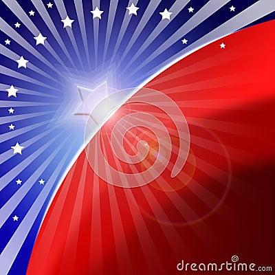 Stilisiert Hintergrund der amerikanischen Flagge