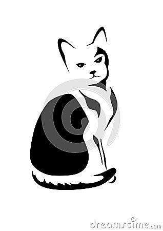 Stilisiert Katze