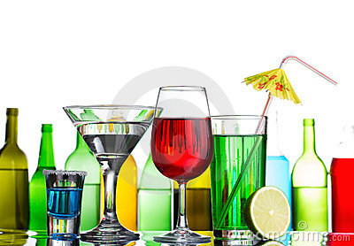 Still-life of alcohol cocktails