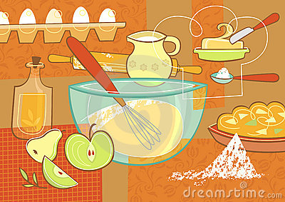 Still life with baking supplies