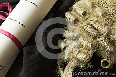 Still Life Of Barrister s Wig And Gown