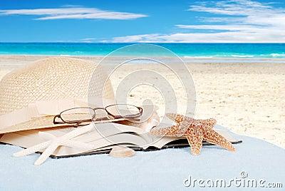 Still life beach concept