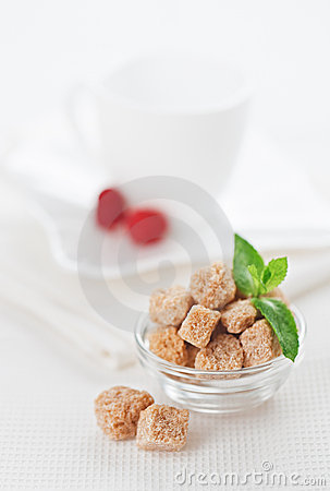 Still Life With Brown Lump Cane Sugar, On Linen Stock Image - Image: 20465901