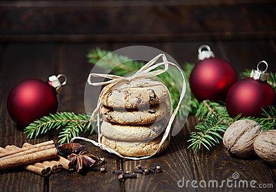 Still life with christmas cookies