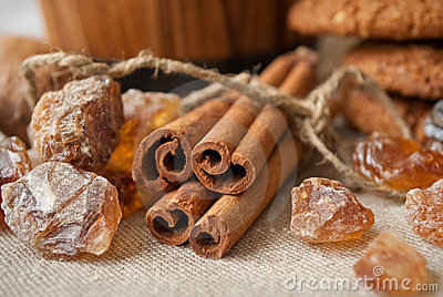 Still life with cinnamon