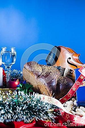 Still life festive objects