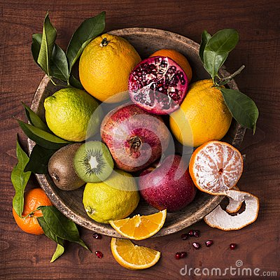 Free Still Life Fruit Basket. Flavors And Colors Stock Photos - 107405803