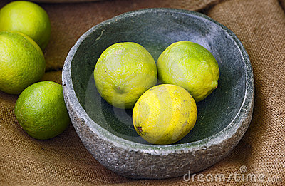 Still-life with limes