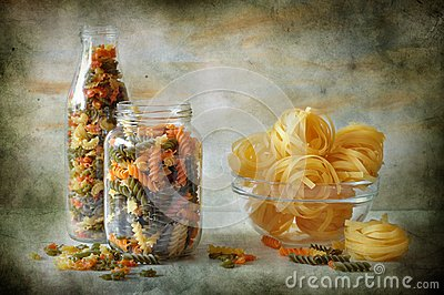 Still life with macaronis