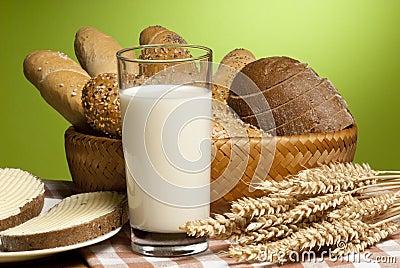 Still-life with milk