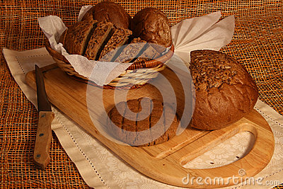 Still life with rye bread