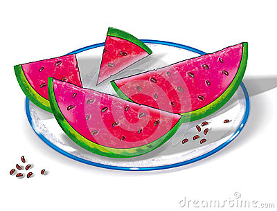 watermelon on a plate