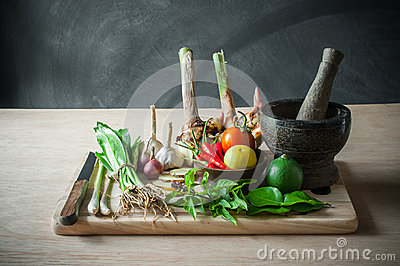 Still life of vegetable food