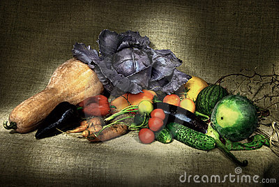 Still-life from vegetables