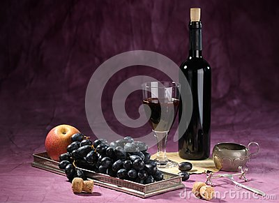 Still life with vine