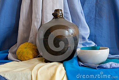 Still life of vintage household items