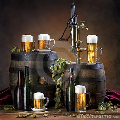 Free Still Life With Beer Royalty Free Stock Photo - 12411235