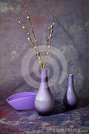 Free Still Life With Glass Vases Royalty Free Stock Image - 44270956