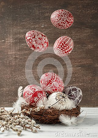 Free Still Life With Pysanky, Decorated Easter Eggs Stock Photos - 107176773