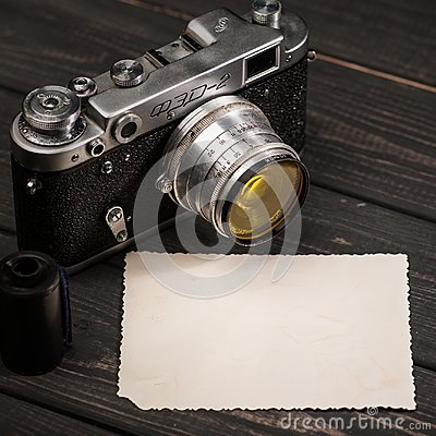 Free Still Life With Retro Soviet Photo Camera FED-2 Stock Photos - 102524823