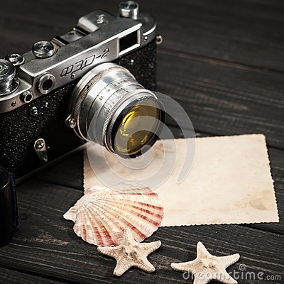 Free Still Life With Retro Soviet Photo Camera FED-2 Royalty Free Stock Images - 102524999