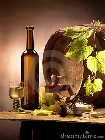Free Still-life With White Wine Stock Photo - 2382980
